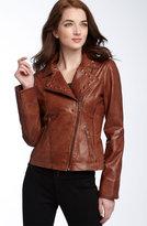 KORS Michael Kors MICHAEL Michael Kors Studded Leather Motorcycle Jacket