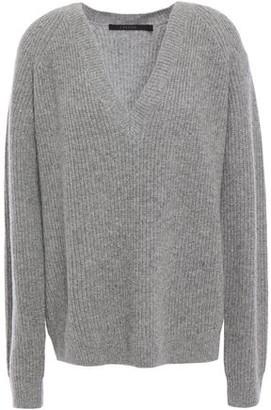 J Brand Jayla Ribbed Melange Merino Wool And Cashmere-blend Sweater