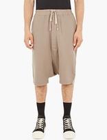 Rick Owens Khaki Pod Shorts