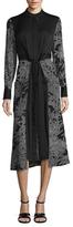 Diane von Furstenberg Silk Cinch Waist Midi Shirtdress