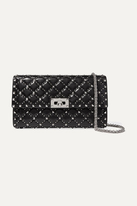 Valentino Garavani The Rockstud Spike Quilted Leather Clutch - Black