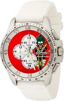 Ed Hardy Men's Dragster DR-WH White Rubber Quartz Watch with Dial