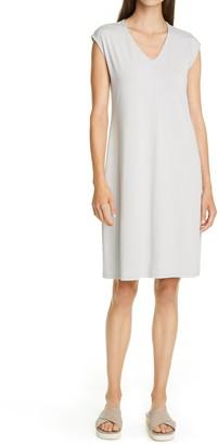 Eileen Fisher V-Neck Sleeveless Knit Dress