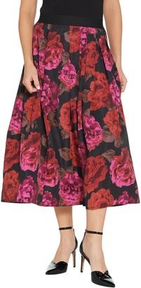 Joan Rivers Classics Collection Joan Rivers Regular Length Midnight Garden Midi Skirt