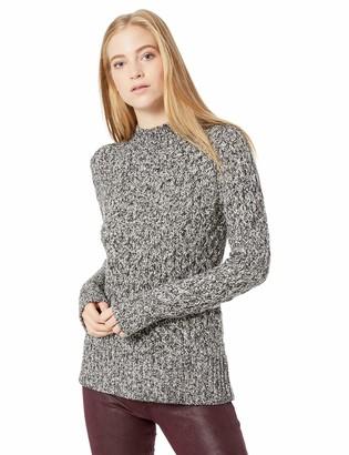 Kensie Women's Diamond Knit Cutout Sweater