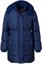 Pink Platinum Navy Quilted Puffer Coat - Toddler & Girls