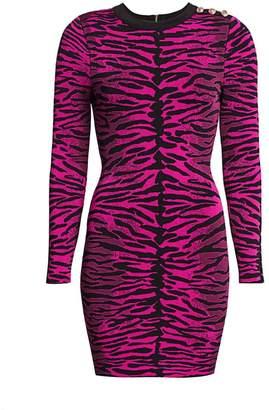 Milly Knit Tiger-Print Bodycon Dress