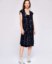 Bellerose Hasting Dress - Size 0 UK6 / Navy - Blue
