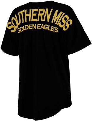 Unbranded Women's Black Southern Miss Golden Eagles Oversized V-Neck Spirit Jersey