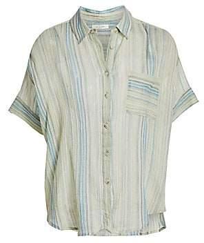 Rag & Bone Women's Lenny Striped Tie Shirt
