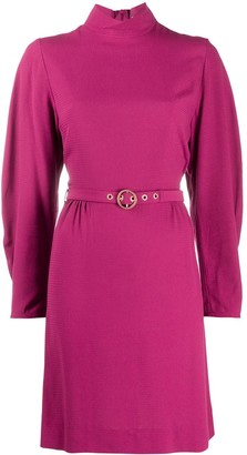 See by Chloe Belted Long-Sleeve Dress