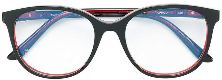Cartier oversized round frame glasses