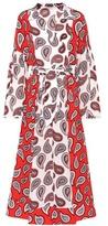 Dodo Bar Or Printed silk-crêpe dress