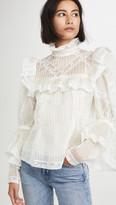 Pintucked Organza & Lace Edwardian Blouse