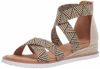 Skechers BOBS Women's Desert Kiss-Summer Sun Espadrille Wedge Sandal