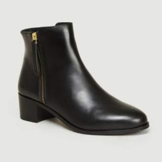 Bobbies Paris - Black Leather La Fougueuse Boots - leather | black | 37 - Black/Black