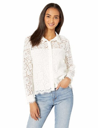Cupcakes And Cashmere Women's Rosella lace Collared Blouse