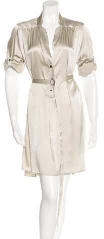 Ann Demeulemeester Silk Belted Dress