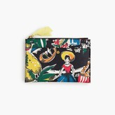 J.Crew Medium pouch in postcard print