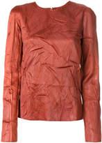 Maison Margiela ruched effect blouse