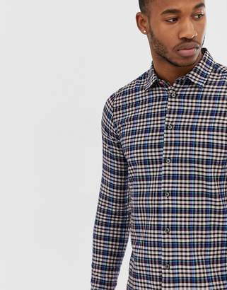 Paul Smith slim fit long sleeve check shirt in multi