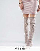 Asos KEW Wide Fit Over The Knee Boots