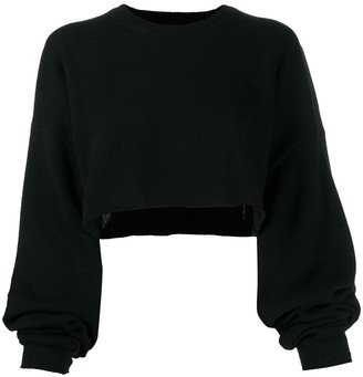 Y's Cropped Oversized Jumper