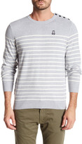 Psycho Bunny Nautical Stripe Crew Neck Sweater
