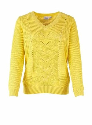Saint Tropez Pointelle Knit Sweater - S / 2120 Yellow