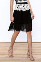 Gracia Eyelet Pleated Skirt