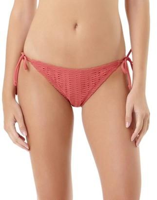 No Boundaries Juniors Crochet Side Tie Scoop Bikini Bottom