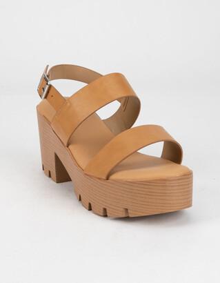 Bamboo Lug Sole Womens Heels