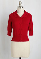 ModCloth Generous to a Malt Cardigan in Cardinal in M