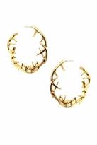 House Of Harlow Antler Hoop Earrings in Yellow Gold