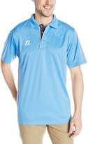 Russell Athletic Men's Game Day Polo, Columbia Blue/White