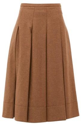 Connolly - Pleated Twill Midi Skirt - Camel