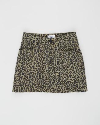 Cotton On Stretch Denim Skirt - Teens