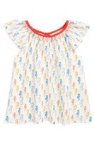Toddler Girl's Mini Boden Flutter Sleeve Top