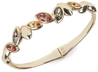 Alexis Bittar 10K Goldplated & Crystal Brake Hinge Bracelet