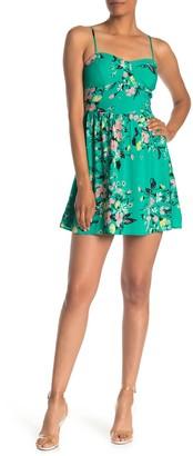 Love, Fire Floral Bustier Dress
