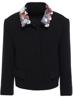Zac Posen Embellished Stretch-crepe Jacket