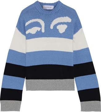 Derek Lam 10 Crosby Intarsia Wool-blend Sweater