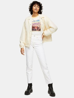 Topshop Straight Jeans - White