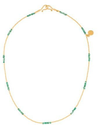 Gurhan 22K Emerald Delicate Rain Necklace