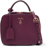 Mark Cross Laura Baby Textured-leather Shoulder Bag - Grape