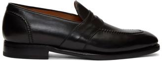 Ralph Lauren Purple Label Black Meegan Penny Loafers