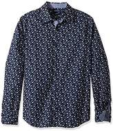 Nautica Men's Long Sleeve Classic Fit Printed Button Down Shirt