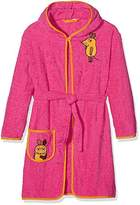 Playshoes Girl's The Mouse Terry Bathrobe