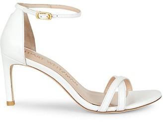 Stuart Weitzman Lynette Leather Ankle Strap Sandals