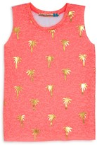 Vintage Havana Girls' Foil Palm Tree Print Tank - Sizes S-XL